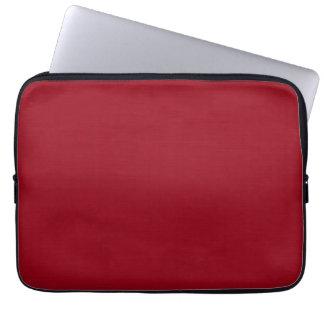Plain dark red background laptop sleeves