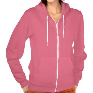 Plain Deep Pink American Apparel Flex Hoodie W