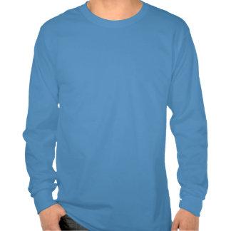 Plain Denim Blue Mens Basic Long Sleeve T-shirt