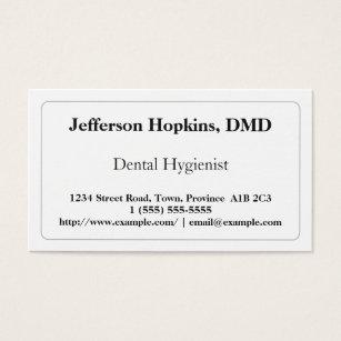 Dental hygienist business cards business card printing zazzle uk plain dental hygienist business card colourmoves Gallery