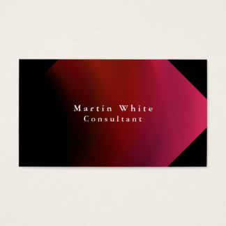 Plain Elegant Black Red Professional Modern Business Card