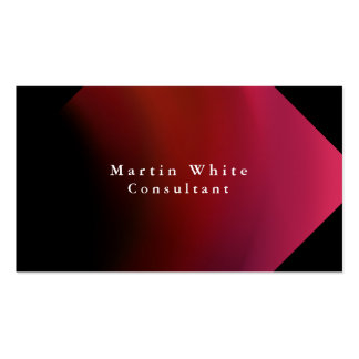 Plain Elegant Black Red Professional Modern Pack Of Standard Business Cards