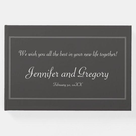 Plain, Elegant Bride/Groom Guestbook