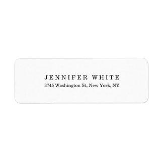 Plain Elegant Classical Black White Minimalist