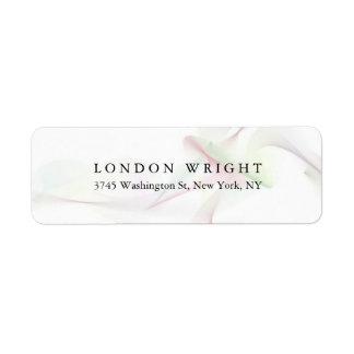Plain Elegant Classical Trendy Curves White Return Address Label