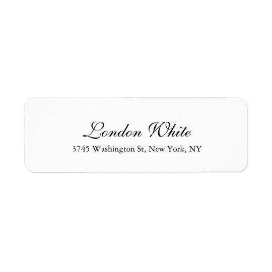 Plain Elegant Handwriting Classical Black White