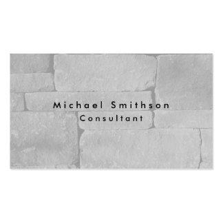Plain Elegant Modern Grey Wall Pack Of Standard Business Cards
