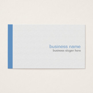 Plain Elegant Modern Simple Blue Stripe on White Business Card