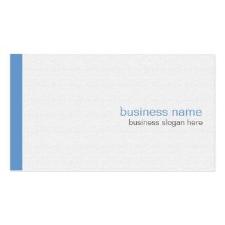 Plain Elegant Modern Simple Blue Stripe on White Pack Of Standard Business Cards