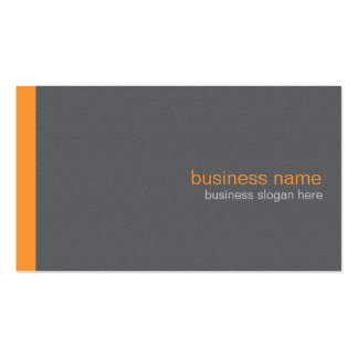 Plain Elegant Modern Simple Orange Stripe Pack Of Standard Business Cards