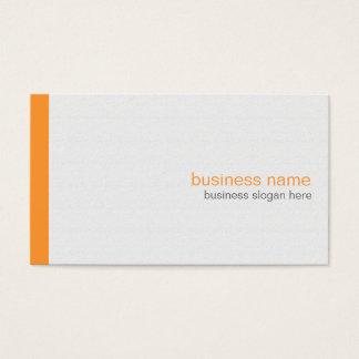 Plain Elegant Modern Simple Orange Stripe on White Business Card