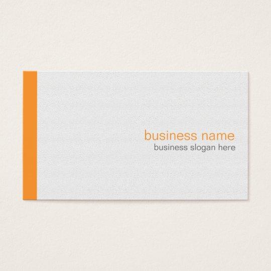 Plain Elegant Modern Simple Orange Stripe on White