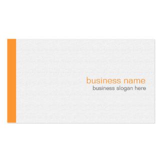 Plain Elegant Modern Simple Orange Stripe on White Pack Of Standard Business Cards