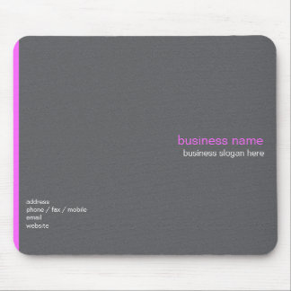 Plain Elegant Modern Simple Pink Stripe Mouse Mat