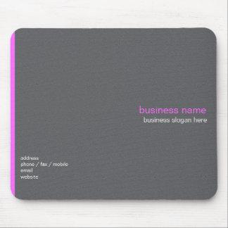Plain Elegant Modern Simple Pink Stripe Mouse Pad