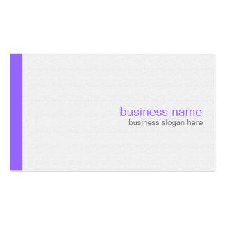 Plain Elegant Modern Simple Purple Stripe on White Pack Of Standard Business Cards