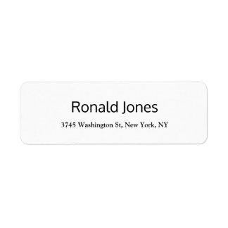 Plain Elegant Professional Creative Modern Return Address Label