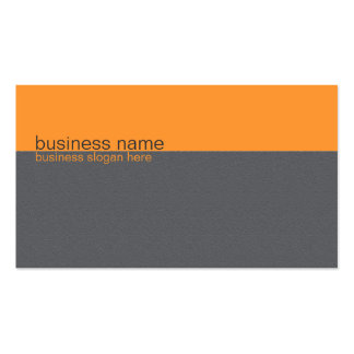 Plain Elegant Simple Orange / Grey Stripe Pack Of Standard Business Cards