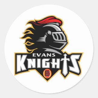 Plain Evans Elementary Logo Stickers