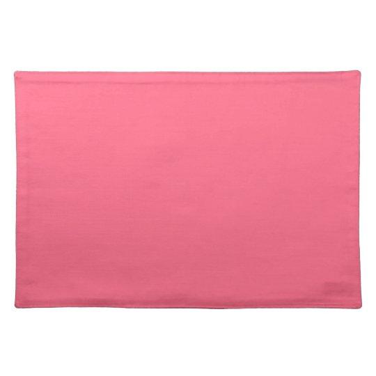 Plain Flamingo Love Hot Pink placemat cloth