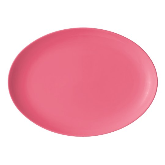 Plain Flamingo Love Hot Pink serving platter