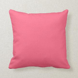 Plain Flamingo Love Hot Pink throw pillow square