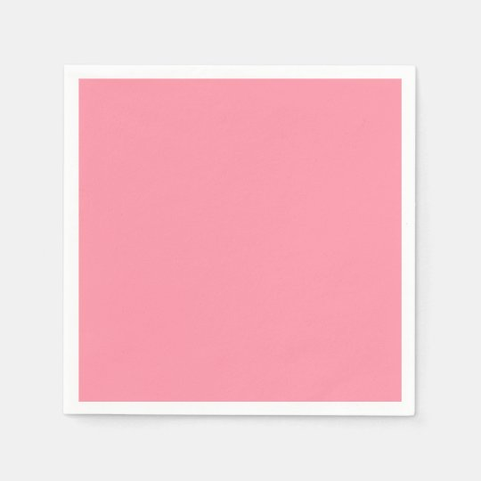 Plain Flamingo Love Pink paper napkins