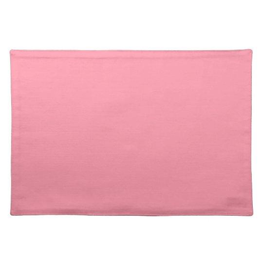 Plain Flamingo Love Pink placemat cloth