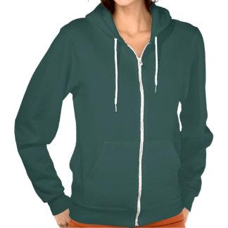 Plain forest green hoodie fleece for women ladies