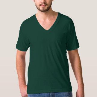 Plain forest green jersey v-neck t-shirt men