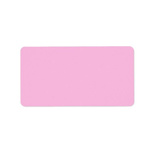 Plain girly pink background blank custom label