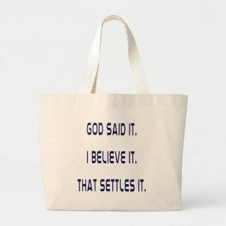 Plain God Said It Jumbo Tote Bag