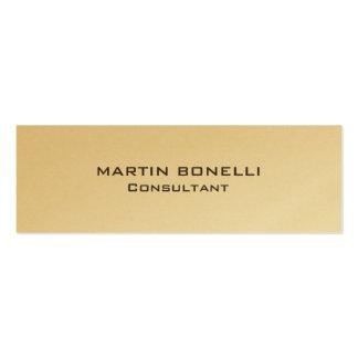 Plain Gold Skinny Rounded Corner Business Card