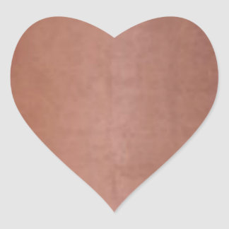 Plain Golden Copper Brown Heart Sticker