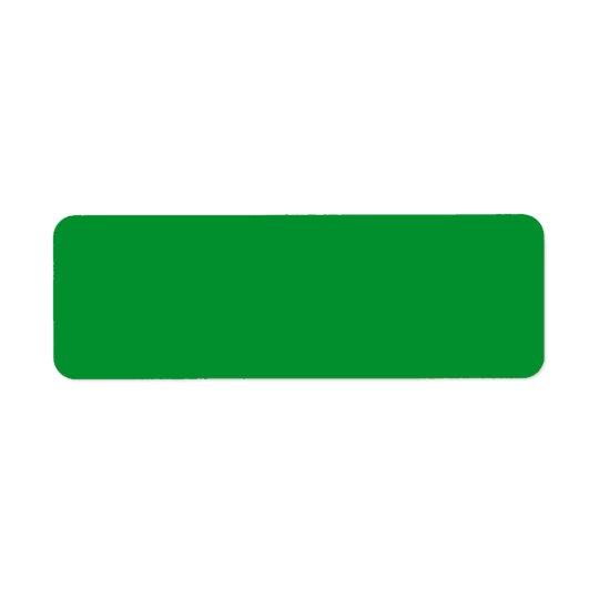 Plain grass green background blank custom label return address label