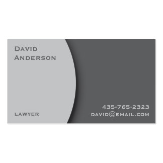 Plain Gray Professional Business Card