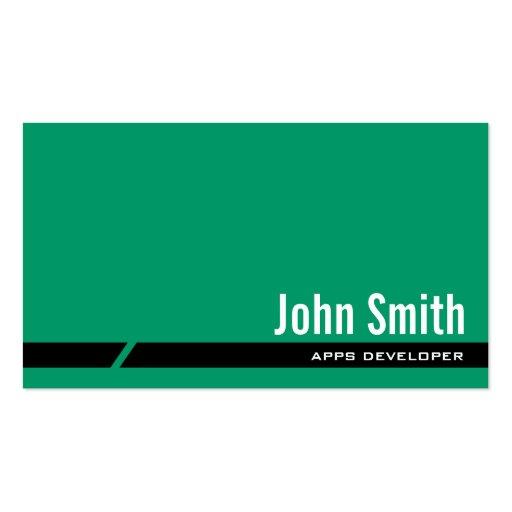 Plain Green Apps developer Business Card