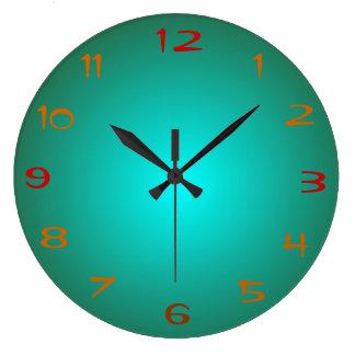 Plain Green/Aqua Illuminated > Kitchen Clocks
