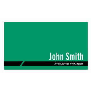 Plain Green Athletic Trainer Business Card