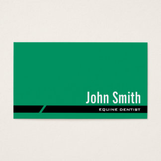 Plain Green Equine Dentist Business Card