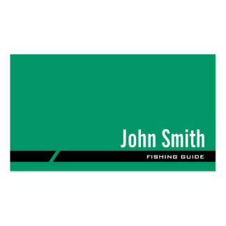 Plain Green Fishing Guide Business Card
