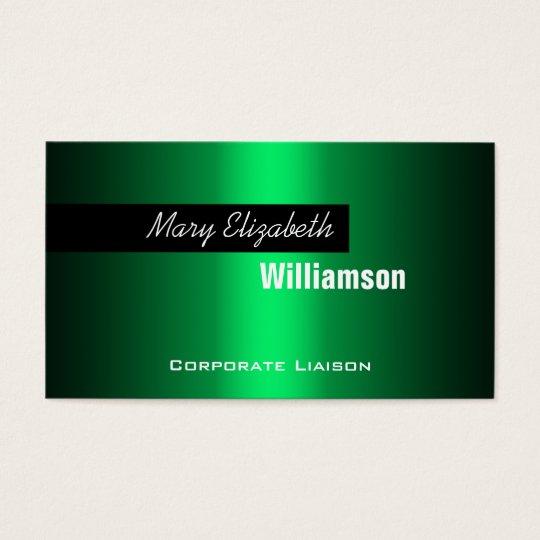 Plain Green Modern Professional Business Cards