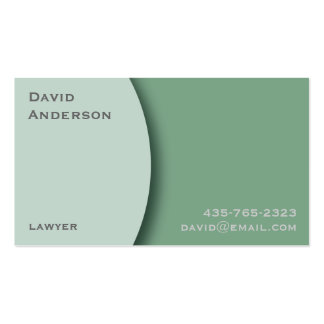 Plain Green Professional Business Card