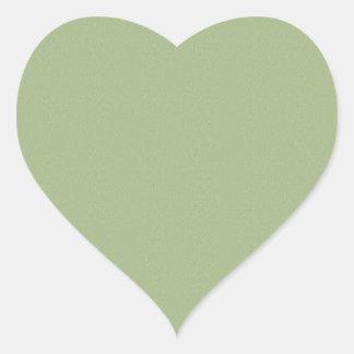 Plain  GREEN  shades Heart Sticker