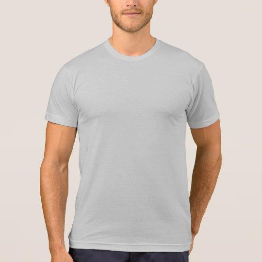 Plain grey eco-blend t-shirt for men