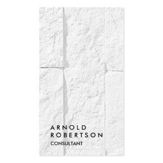 Plain Grey Wall Modern Consultant Business Card