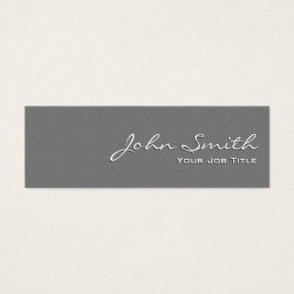 Plain Grey Wall Texture Mini Business Card