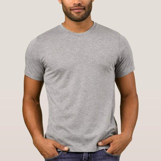 Plain heather grey crew neck t-shirt for men