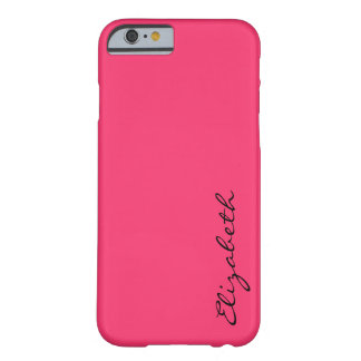 Plain Hot Pink Background Barely There iPhone 6 Case