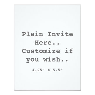 Plain Invite.. 11 Cm X 14 Cm Invitation Card